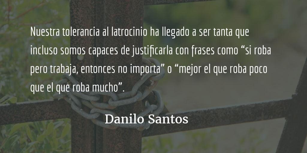 Cultura de corrupción. Danilo Santos.