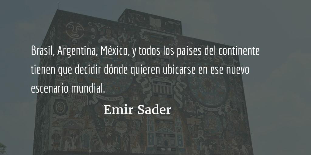 Un mundo multipolar. Emir Sader.