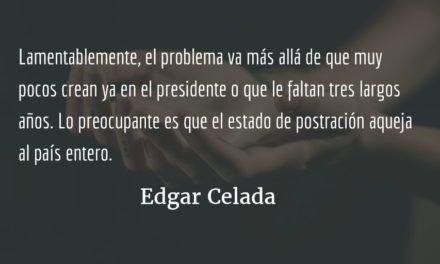 En estado de postración. Edgar Celada Q.