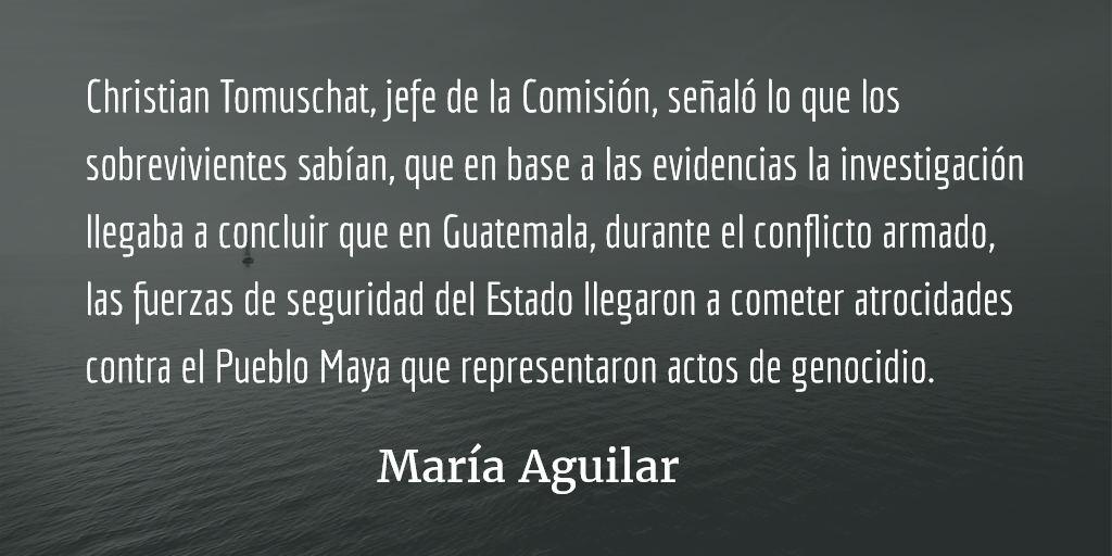 Pueblos indígenas y la paz en Guatemala (VIII). María Aguilar.