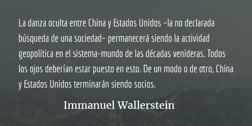 China y Estados Unidos, ¿socios? Immanuel Wallerstein