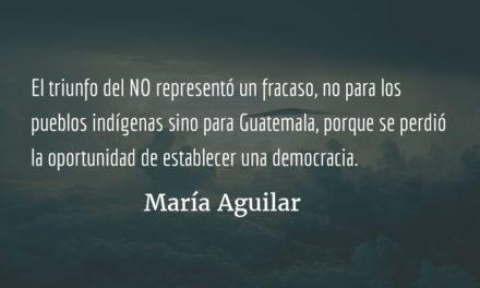 Pueblos indígenas y la paz en Guatemala IX. María Aguilar.