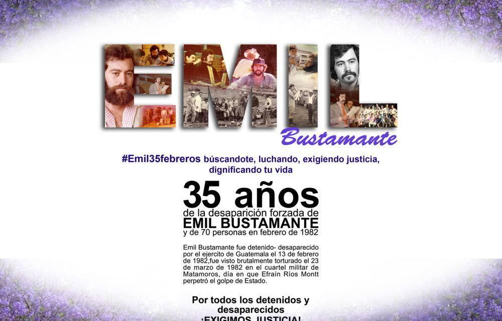 35 años de la desaparación forzada de Emil Bustamante