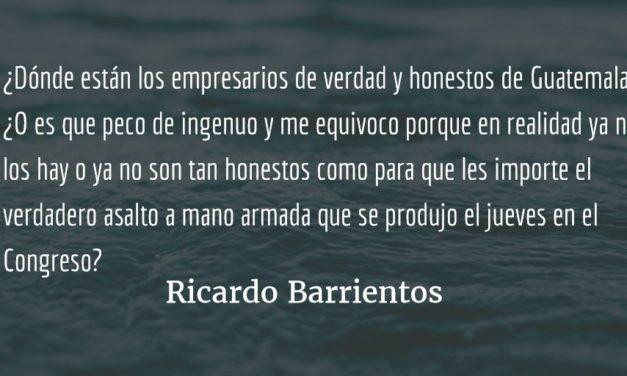 Noventa votos a favor de la impunidad fiscal. Ricardo Barrientos.