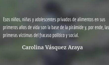 La huella del hambre. Carolina Vásquez Araya.