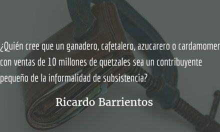 Sector agropecuario: evasores y con garrote. Ricardo Barrientos.
