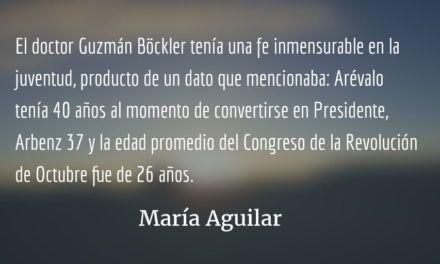 Adiós a Carlos Guzmán Böckler. María Aguilar.