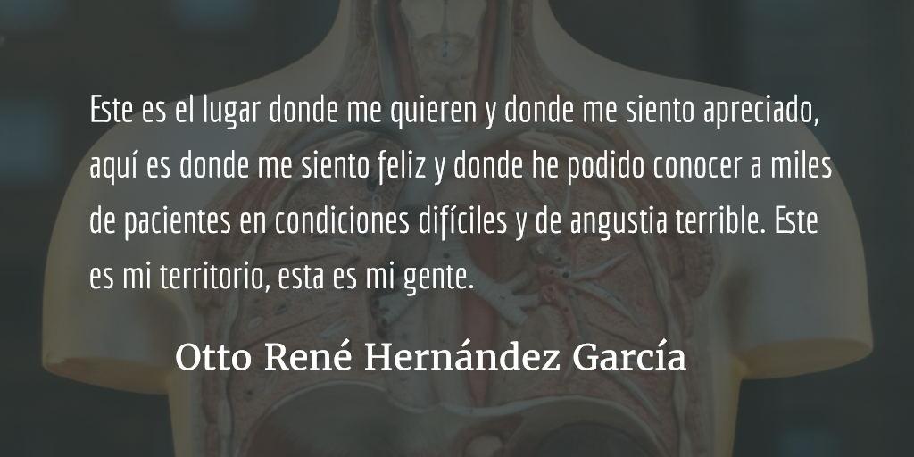La salud pública nos da risa, la morbimortalidad nos hace los mandados. Otto René Hernández García.