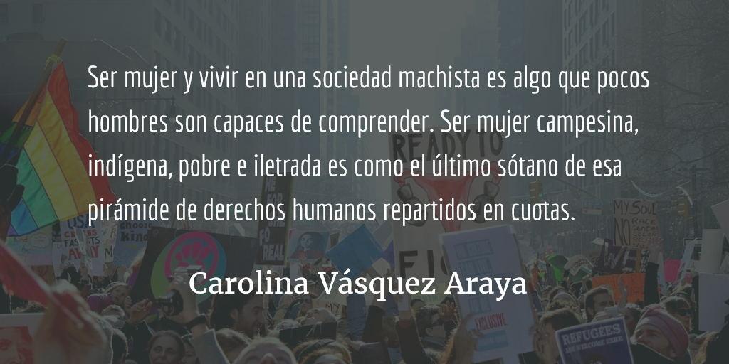 Ni una menos: el 8M. Carolina Vásquez Araya.