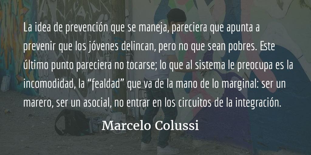"""Prevención de la """"violencia juvenil"""": ¿qué significa? Marcelo Colussi"""