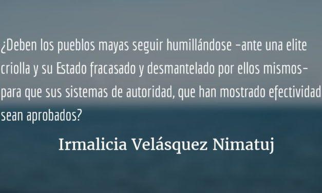 ¿Qué hacer? ¿Qué camino tomar? (XI). Irmalicia Velásquez Nimatuj.