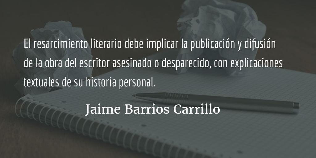 Luis de Lión, resarcimiento literario. Jaime Barrios Carrillo.