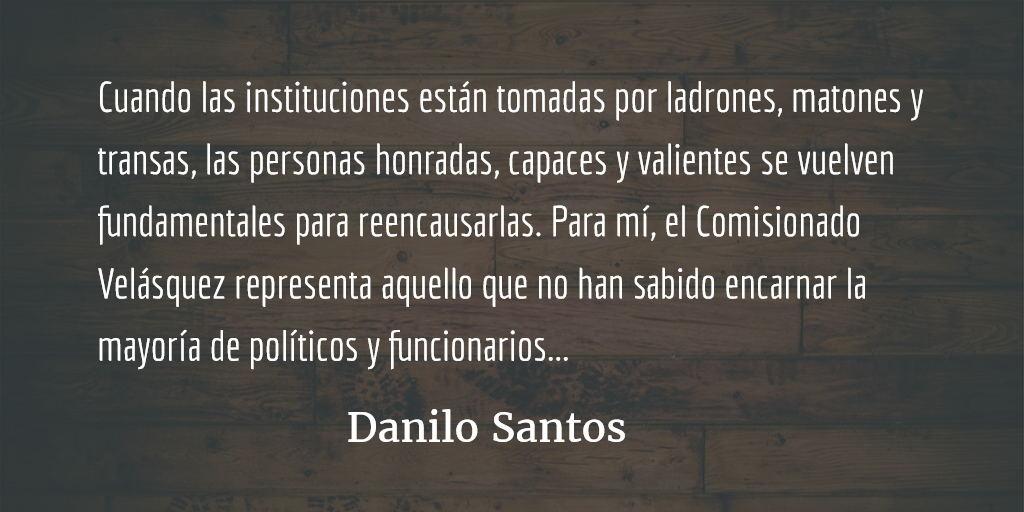 El apoyo a la CICIG e Iván Velásquez. Danilo Santos.