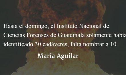 El Estado las asesinó. María Aguilar.