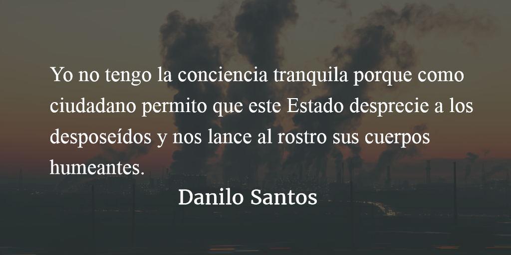 37 razones para no tener la conciencia tranquila. Danilo Santos.