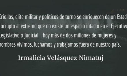 ¿Qué hacer? ¿Qué camino tomar? (XIII). Irmalicia Velásquez Nimatuj.