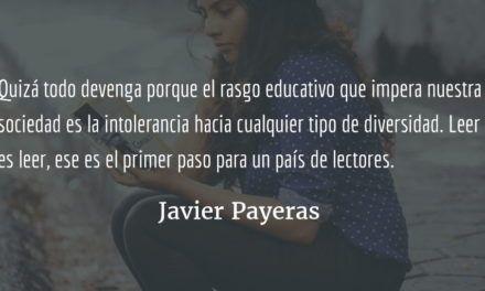 Por qué no leemos los guatemaltecos. Javier Payeras.