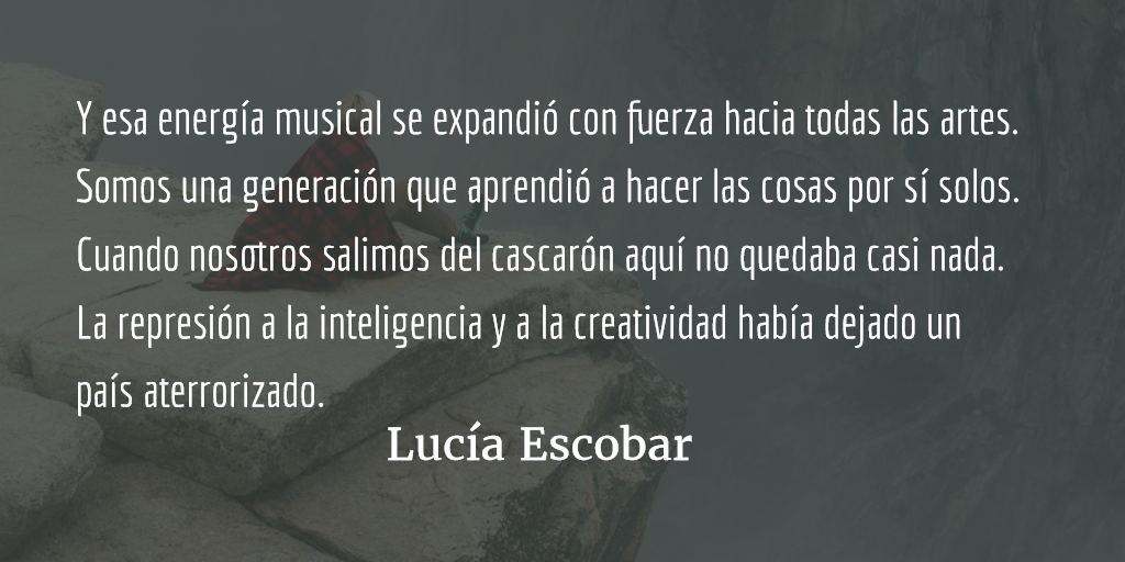 Veinticinco años de rock. Lucía Escobar.