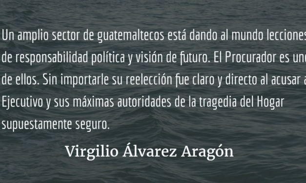 De cafres y corruptos: el irrespeto al Procurador de los DH. Virgilio Álvarez Aragón.