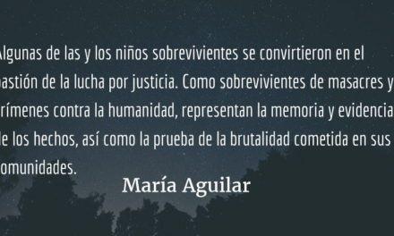 La niñez y la guerra (III). María Aguilar.
