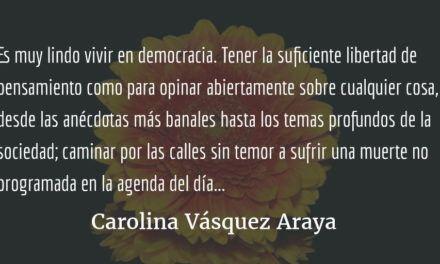 La burbuja tras las rejas. Carolina Vásquez Araya.