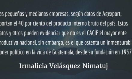 El CACIF como una creación. Irmalicia Velásquez Nimatuj.