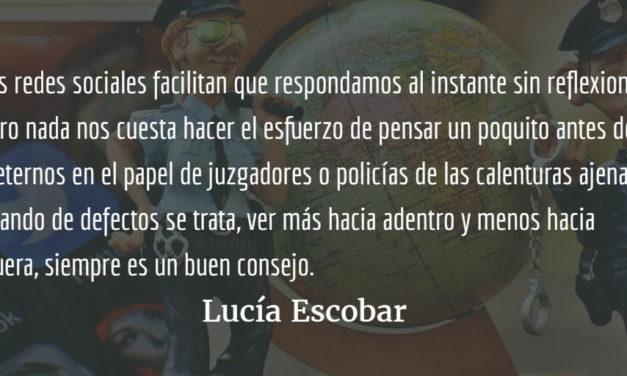 La policía de la indignación. Lucía Escobar.