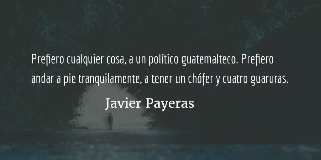 Prefiero el silencio. Javier Payeras.