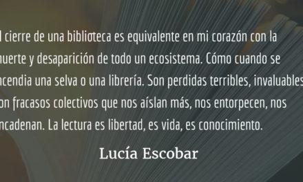 Bibliotecón. Lucía Escobar.