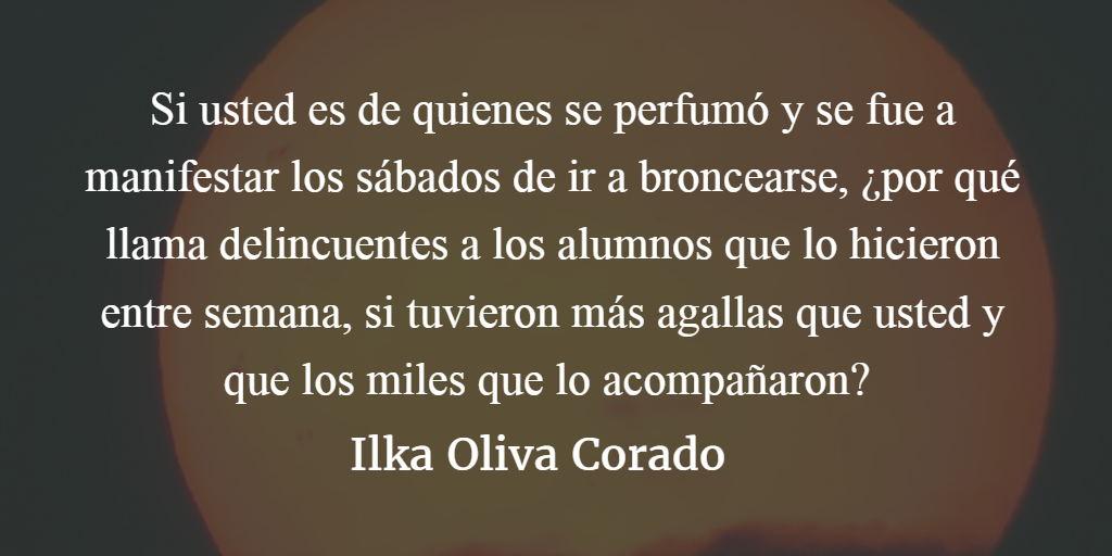 ¿Y usted, fue a manifestar los sábados de ir broncearse en el 2015? Ilka Oliva Corado