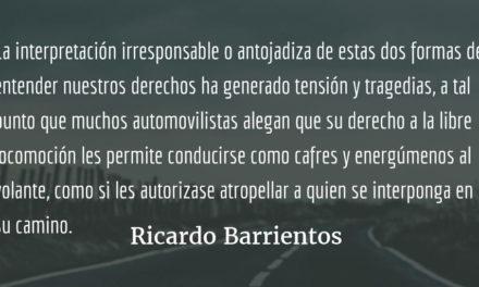 La libertad de locomoción no es un derecho ilimitado. Ricardo Barrientos.