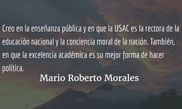 El Honoris Causa de la USAC. Mario Roberto Morales.