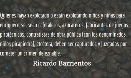 Un no contundente al trabajo infantil. Ricardo Barrientos.