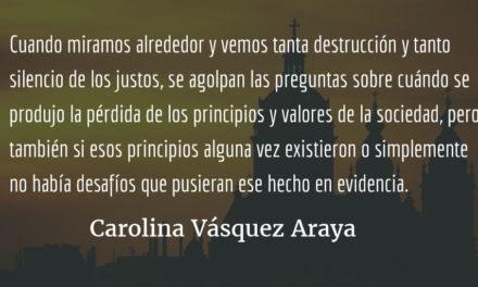 Violencia, nuestra marca de identidad. Carolina Vásquez Araya.