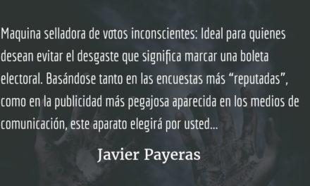 Aparatos para guatemaltecos. Javier Payeras.