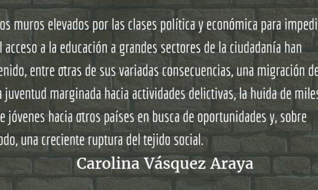 Se perdieron el rumbo y la empatía. Carolina Vásquez Araya.