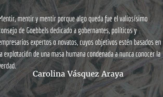 La verdad detrás de la máscara. Carolina Vásquez Araya.