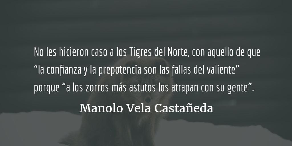 Golpear a alguien con un bate de béisbol no es cosa fácil. Manolo Vela Castañeda.