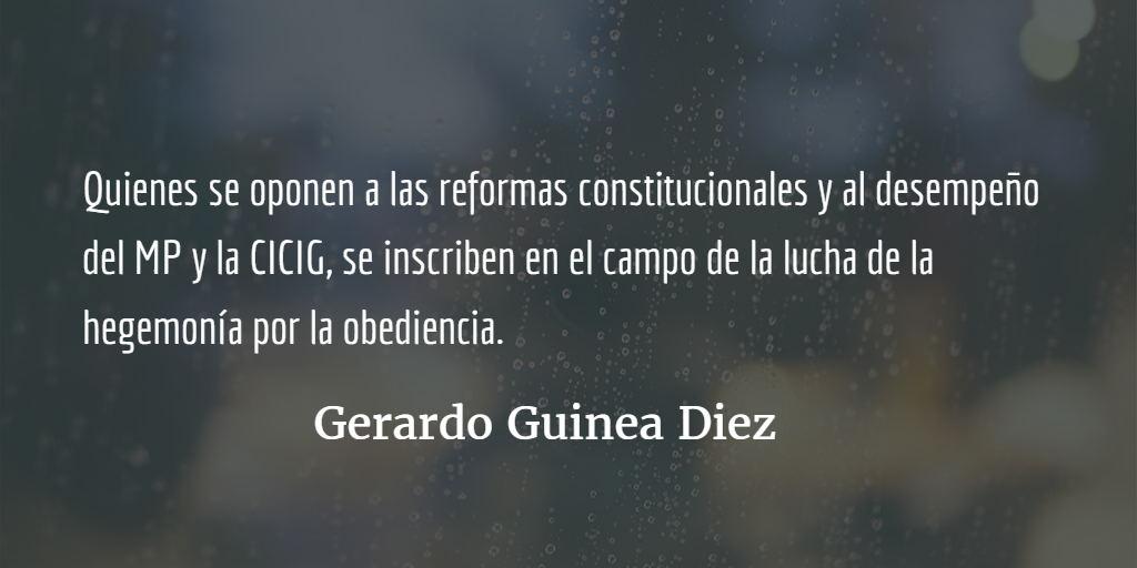 Obediencias. Gerardo Guinea Diez.