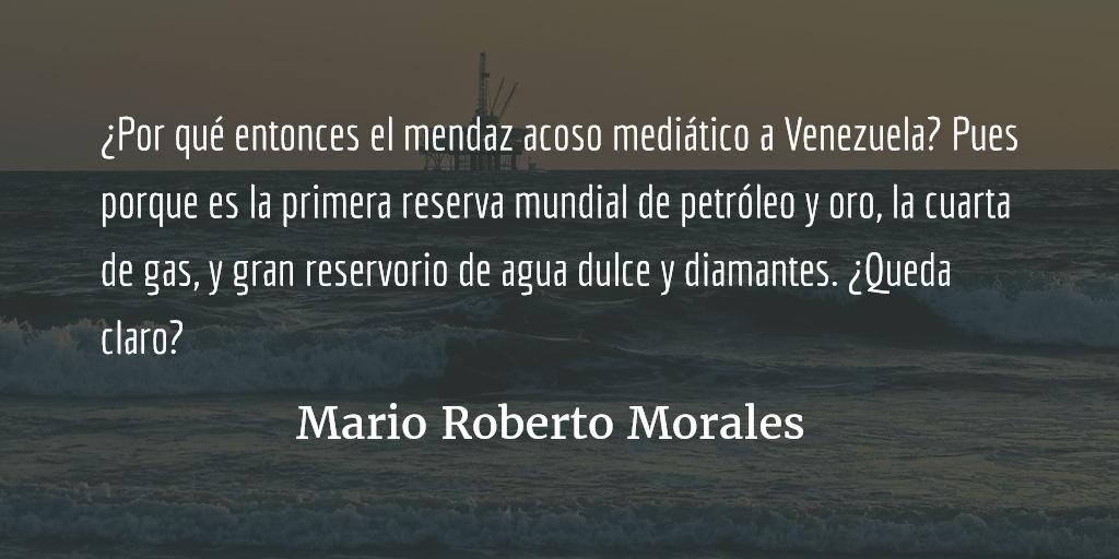 Venezuela: la versión bolivariana. Mario Roberto Morales.