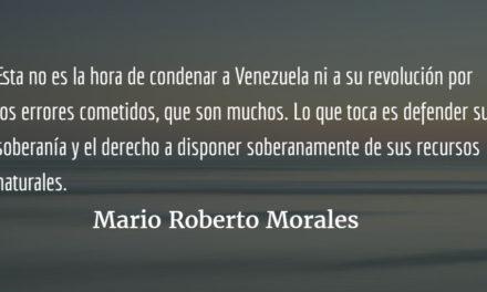Albañiles, no jueces. Mario Roberto Morales.