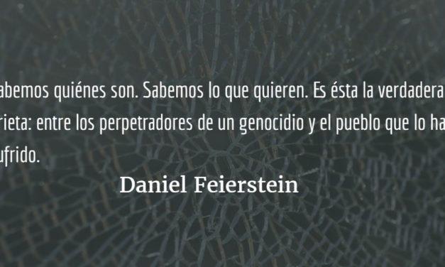 Los dos demonios no son los que eran. Daniel Feierstein.