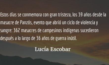 """En """"loop"""" de muerte. Lucía Escobar."""
