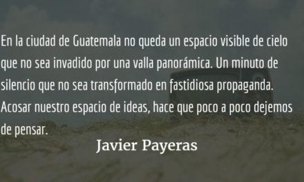 Segundo de sol. Javier Payeras.