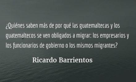 Migrantes y fiscal Aldana, excluidos de «cumbre». Ricardo Barrientos.
