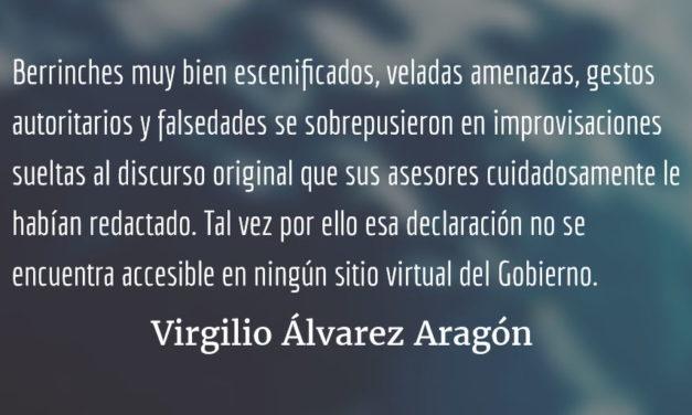 Cuando la pasión desmiente el discurso. Virgilio Álvarez Aragón.