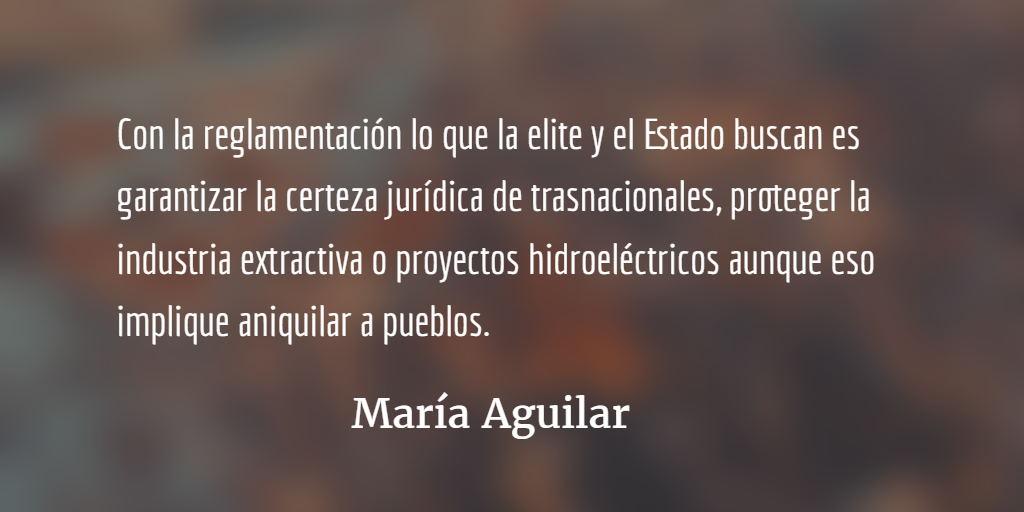 Implementando la guía del despojo. María Aguilar.