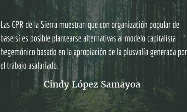 Comunidades de Población en Resistencia -CPR- de la Sierra: experiencia excepcional de democracia de base. Cindy López Samayoa.