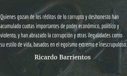 La lucha contra la corrupción sigue. Ricardo Barrientos.