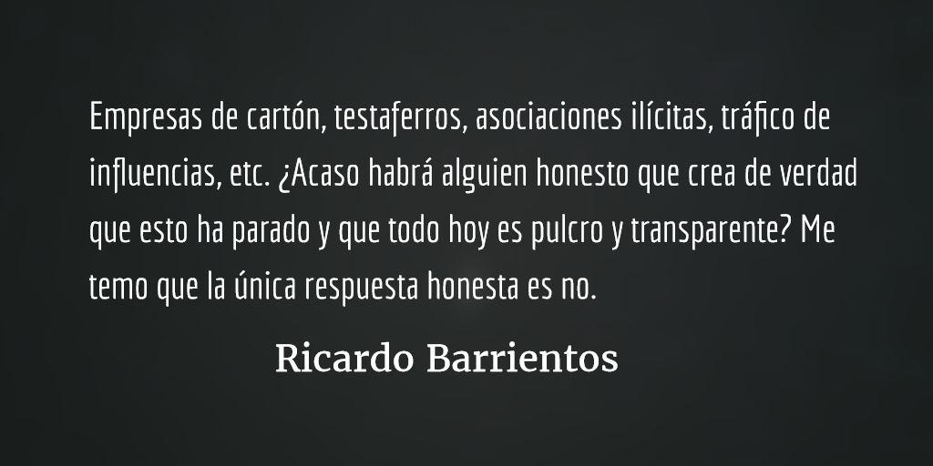 Sobre quitar controles y candados. Ricardo Barrientos.